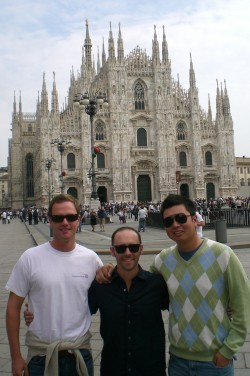 Outside the Duomo
