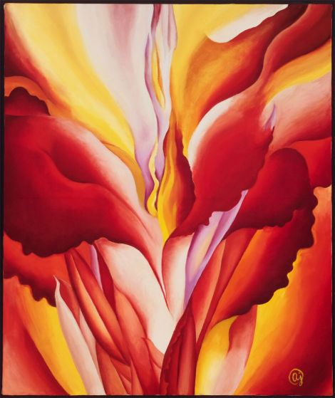 """Red Canna"" by Georgia O'Keeffe"