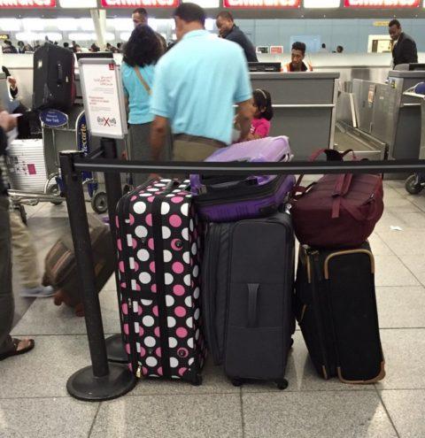 5 suitcases