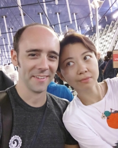 Sitting in Shanghai Pudong airport before our flight
